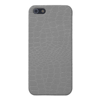 Alligator Silver Grey Case For The iPhone 5
