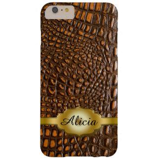 Alligator Skin iPhone 6 Plus Monogram Case
