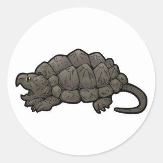 Alligator Snapping Turtle Round Sticker
