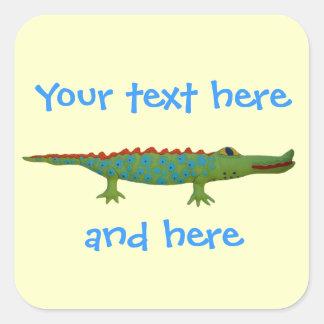 Alligator Square Sticker