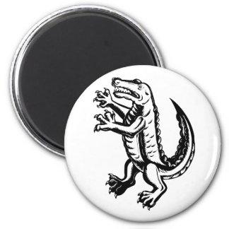 Alligator Standing Scraperboard Magnet