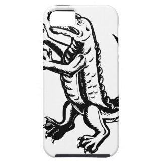 Alligator Standing Scraperboard Tough iPhone 5 Case