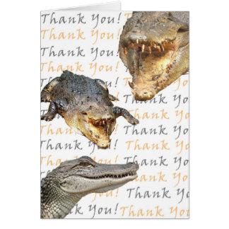 Alligator Thank You Card