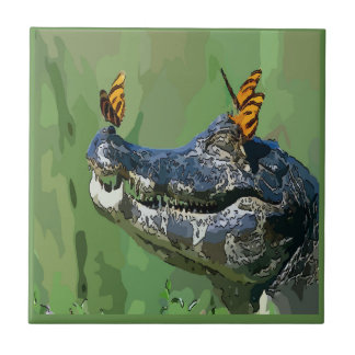 Alligator  Tile, Dutch Look, Personalize Ceramic Tile