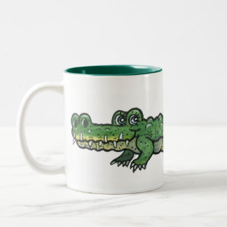 Alligator Two-Tone Coffee Mug