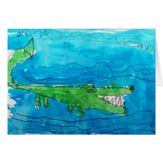 Alligator Watercolor - Pictures by Paxton Card