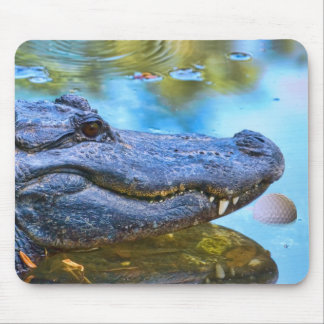 Alligator with Golfball Mousepad