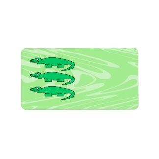 Alligators. Address Label