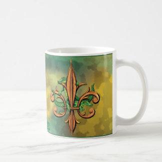 Alligators and Fleur-de-lis Coffee Mugs