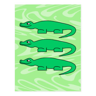 Alligators. Postcard