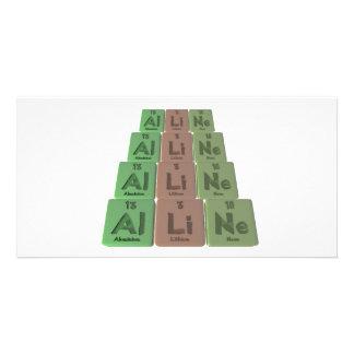 Alline as Aluminium Lithium Neon Picture Card