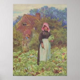 Allingham Helen 1848-1926 - Happy England 1904 Poster