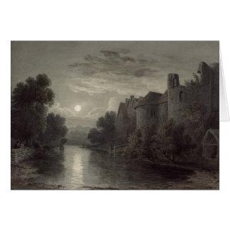 Allington Castle, near Maidstone, Kent; Moonlight Card