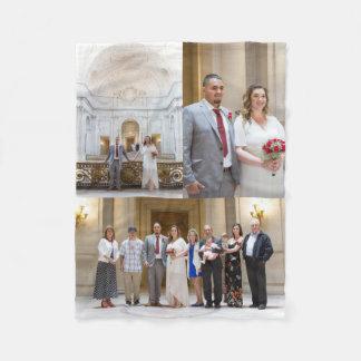 Allison & Edgar's Wedding Fleece Blanket