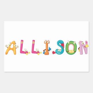 Allison Sticker