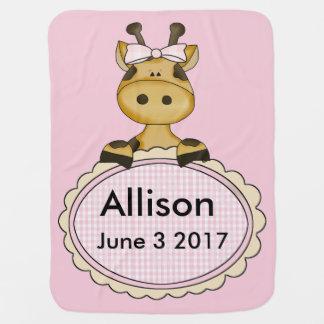 Allison's Personalized Giraffe Baby Blanket