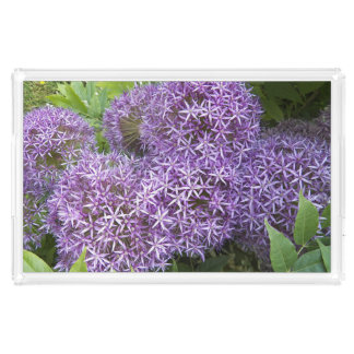 Allium Blooms Floral Acrylic Tray