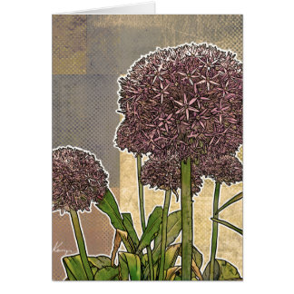 Allium Blossoms Greeting Cards