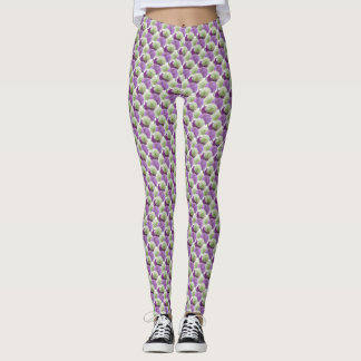 Allium Flowers Pattern Legging