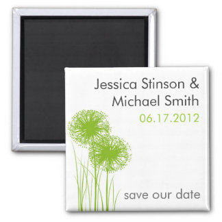 Allium in the Grass Save the Date Magnet