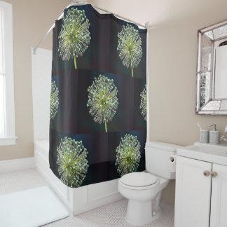 Allium Seed Pod Shower Curtain