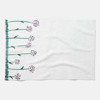 allium tea towel