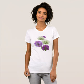 Allium White and Purple Flowers App. T-Shirt