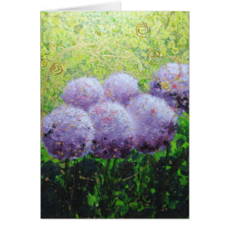 Alliums at Laycock  Notelets  by Bee Lilli Card