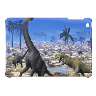 Allosaurus attacking brachiosaurus dinosaur iPad mini covers