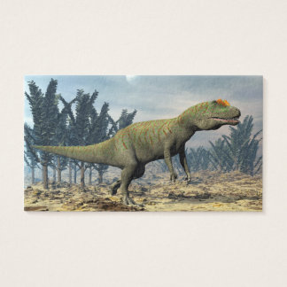Allosaurus dinosaur - 3D render Business Card