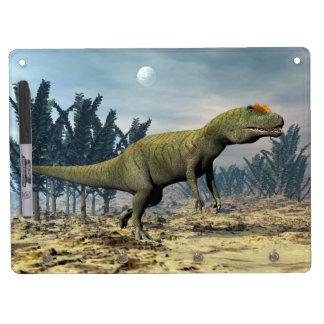 Allosaurus dinosaur - 3D render Dry Erase Board With Key Ring Holder