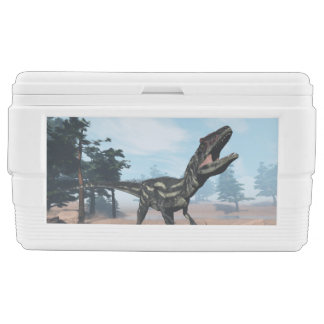 Allosaurus dinosaur roaring - 3D render Chest Cooler
