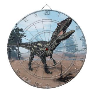 Allosaurus dinosaur roaring - 3D render Dartboard