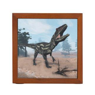 Allosaurus dinosaur roaring - 3D render Desk Organiser