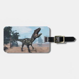 Allosaurus dinosaur roaring - 3D render Luggage Tag