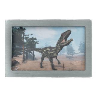 Allosaurus dinosaur roaring - 3D render Rectangular Belt Buckles