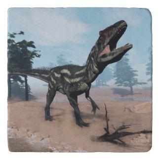 Allosaurus dinosaur roaring - 3D render Trivet