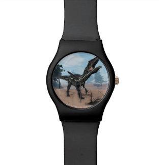 Allosaurus dinosaur roaring - 3D render Watch