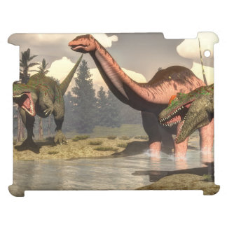 Allosaurus hunting big brontosaurus dinosaur cover for the iPad 2 3 4