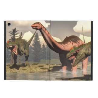 Allosaurus hunting big brontosaurus dinosaur iPad air cover