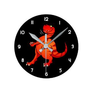 Allosaurus Round Clock