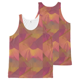 Allover Design Tank Top Purple Gold Sunset All-Over Print Tank Top