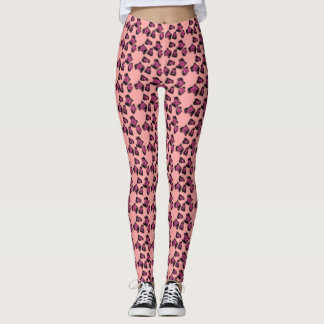 allover flower print on leggings. leggings
