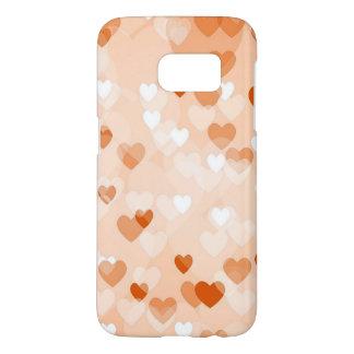 Allover hearts,peach