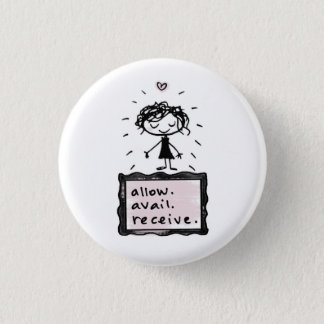 allow. avail. receive. 3 cm round badge