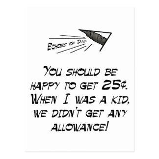 Allowance Postcard