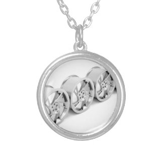 Alloy rims silver plated necklace