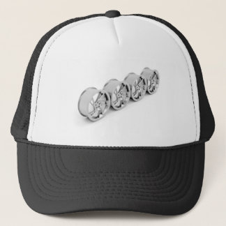 Alloy rims trucker hat