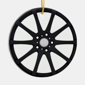 """""""Alloy Wheel"""" gifts and products Ceramic Ornament"""