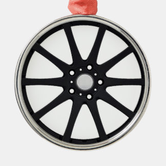 """Alloy Wheel"" gifts and products Silver-Colored Round Decoration"